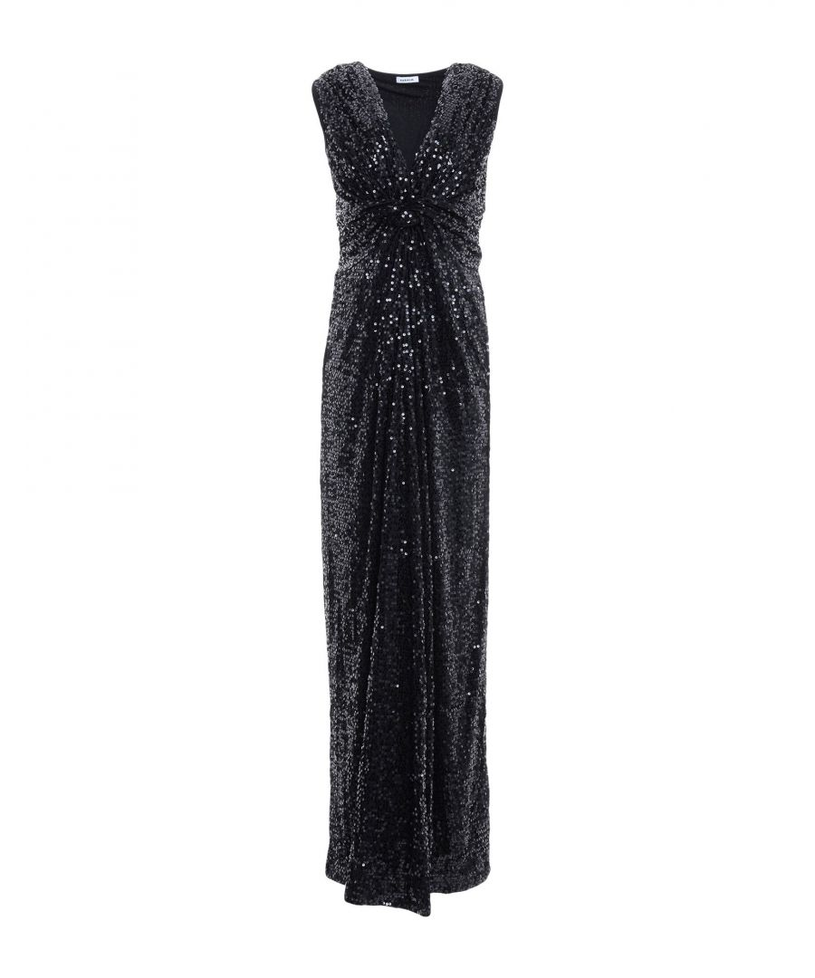 Image for P.A.R.O.S.H. Black Full Length Dress