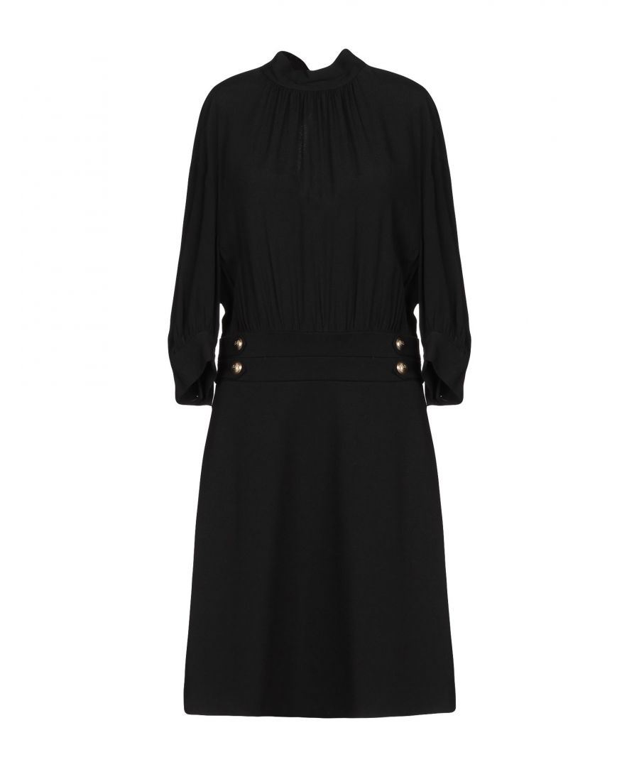 Image for Pinko Black Crepe Long Sleeve Dress