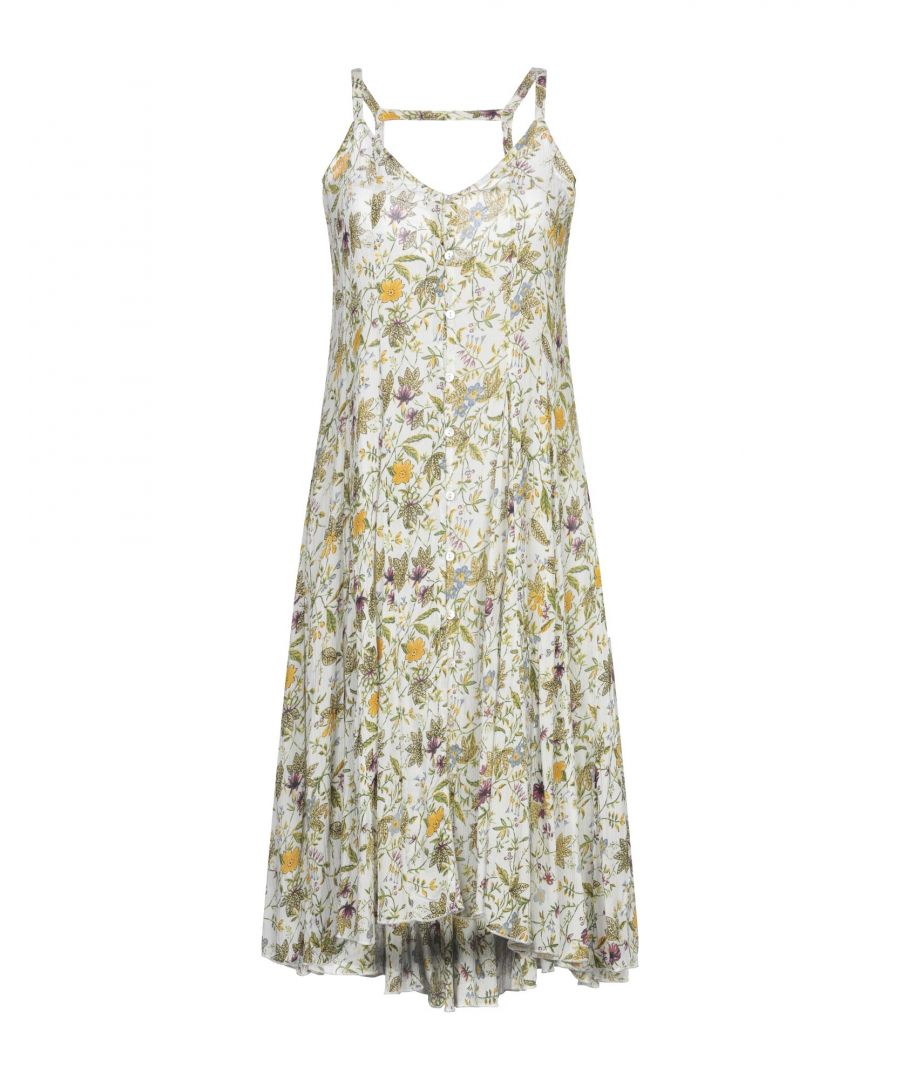 Image for Sh By Silvian Heach Ivory Floral Design Sleeveless Dress