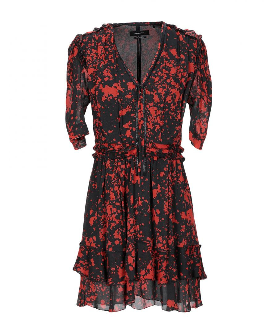 Image for Isabel Marant Red Print Silk Dress