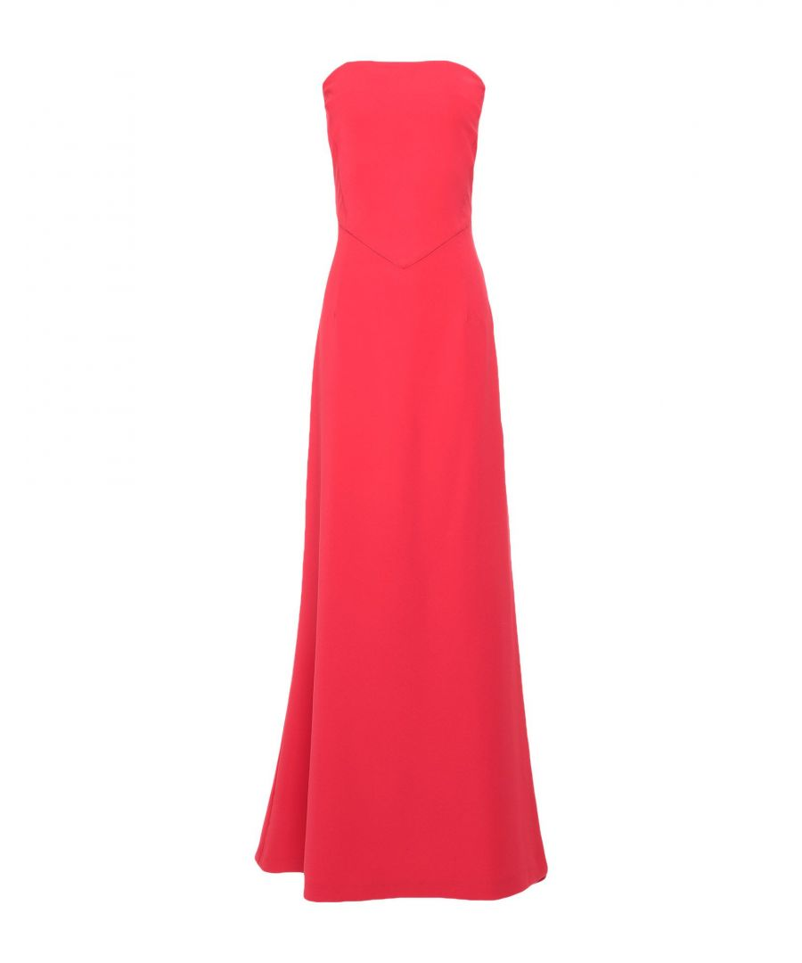 Image for Cristinaeffe Red Crepe Full Length Dress