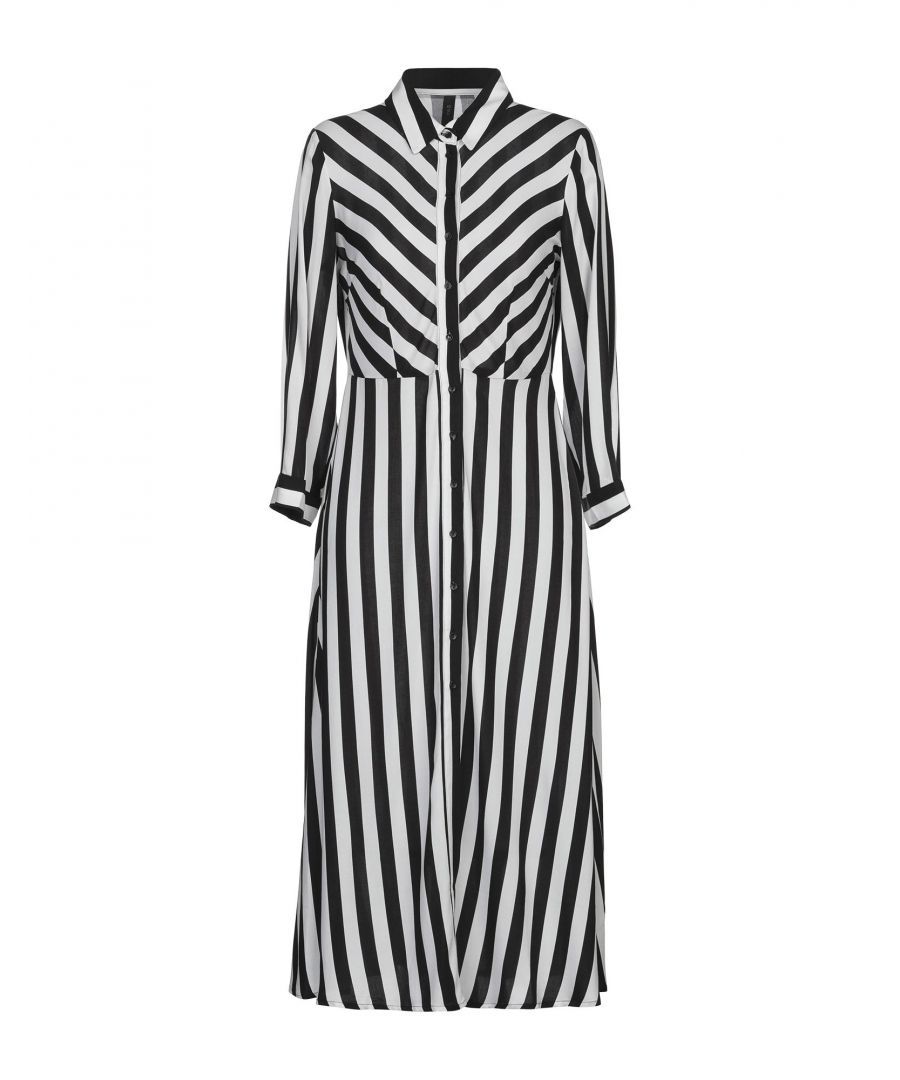 Image for Y.A.S. Sport Monochrome Stripe Shirt Dress