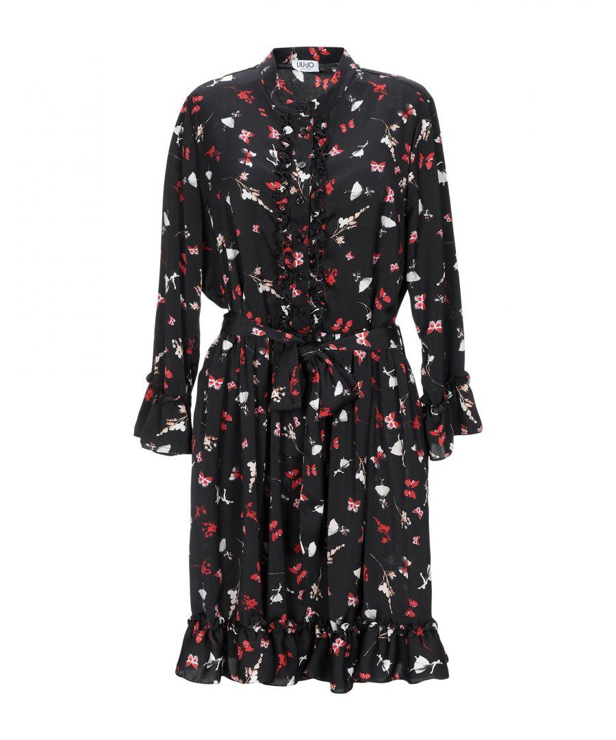Image for Liu Jo Black Print Long Sleeve Dress