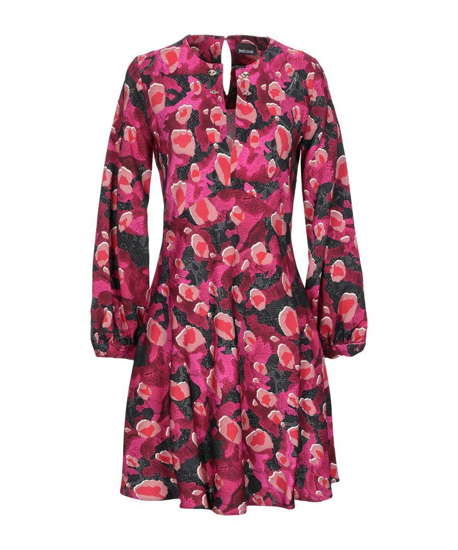 Image for Just Cavalli Garnet Animal Print Long Sleeve Dress