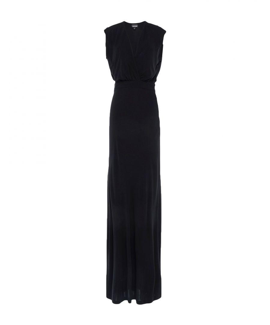 Image for Just Cavalli Black Jersey Full Length Dress
