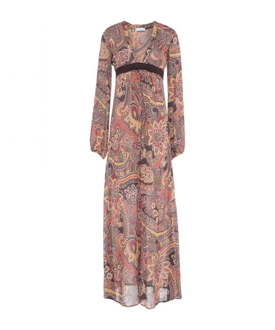 Image for Pinko Ochre Print Full Length Dress