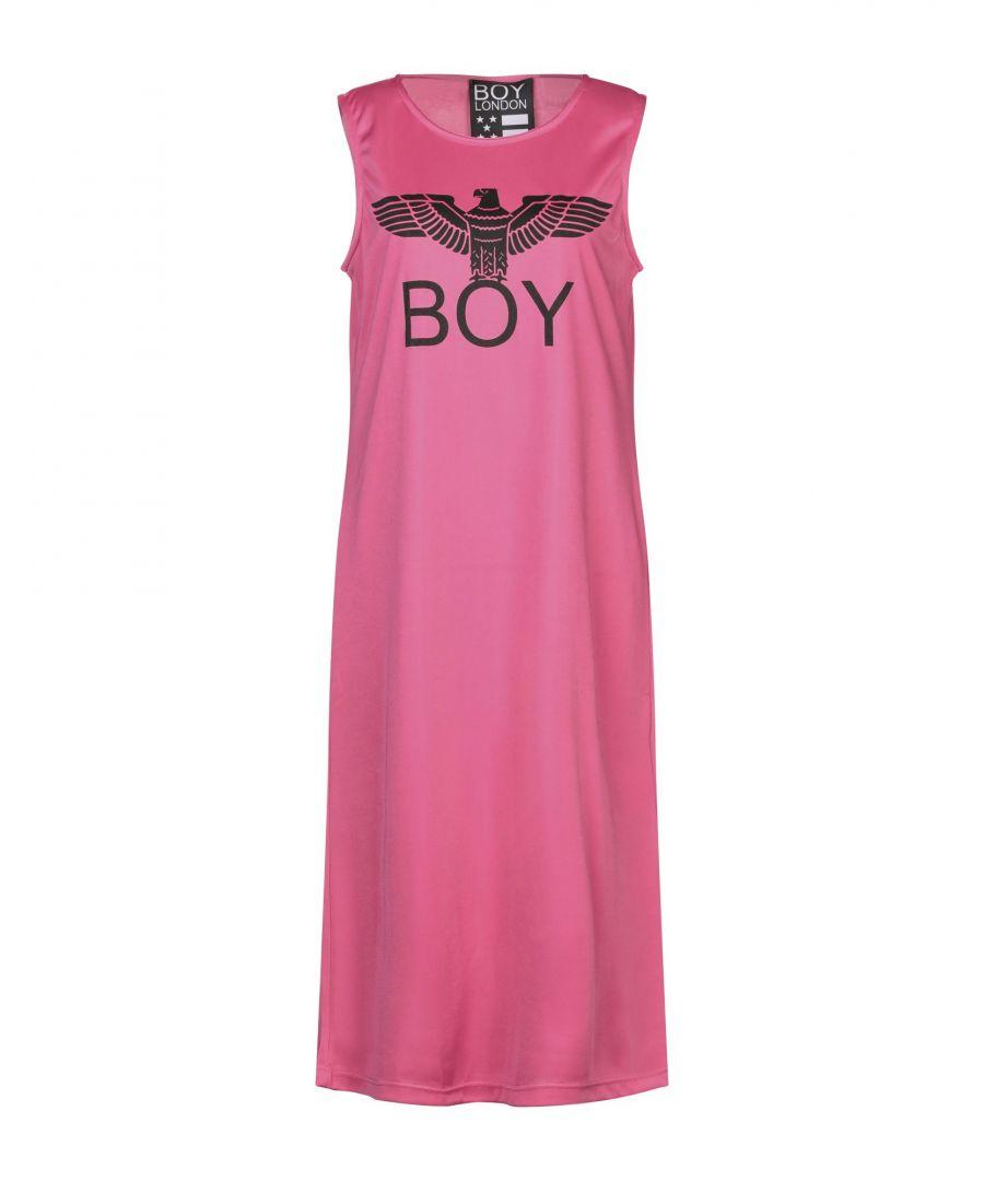 Image for Boy London Fuchsia Logo Full Length Dress