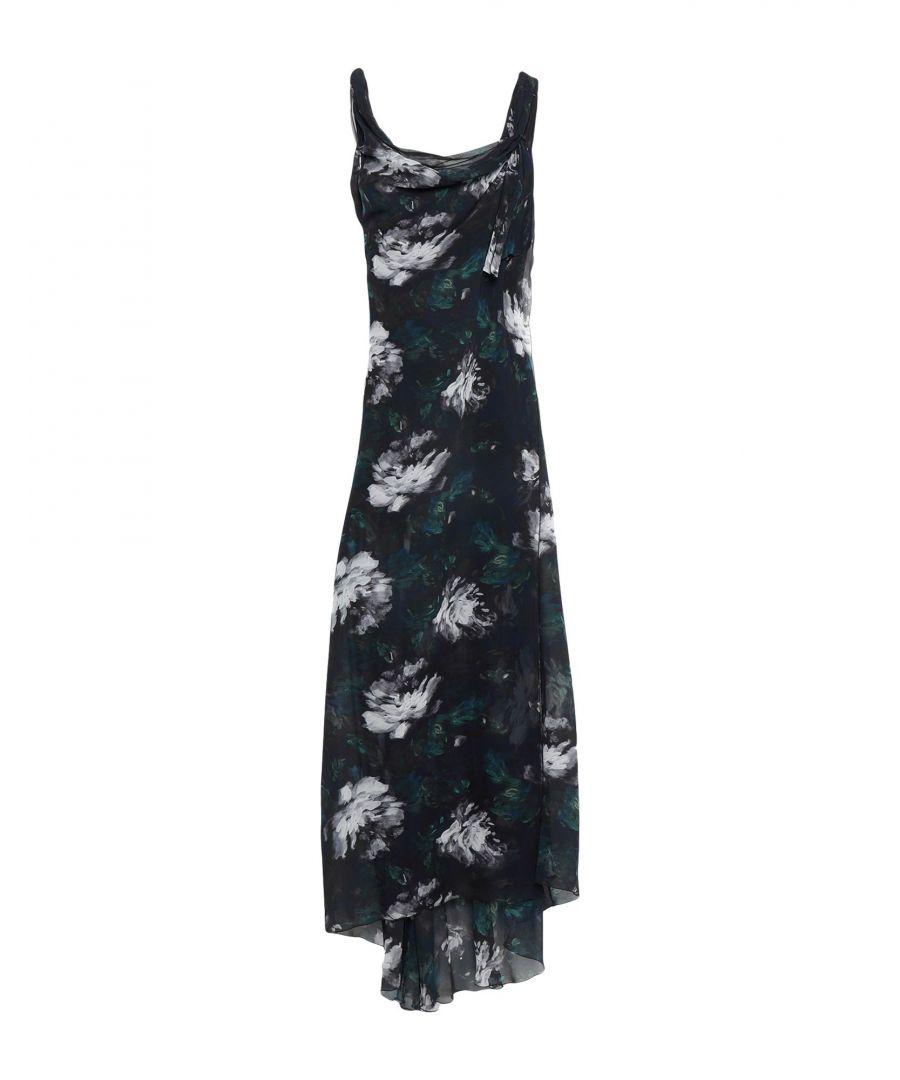 Image for Patrizia Pepe Black Print Crepe Dress
