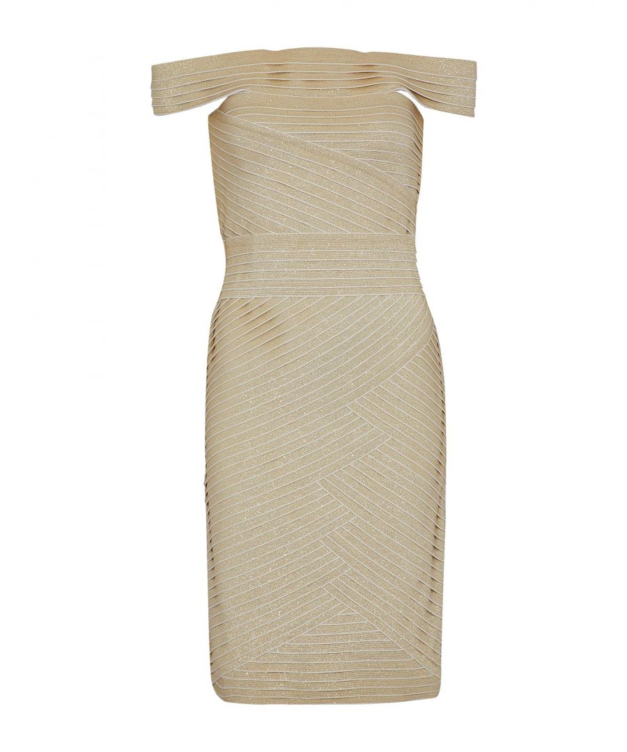Image for Pierre Balmain Gold Knit Dress