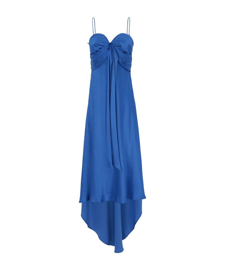 Image for Pinko Bright Blue Draped Midi Dress