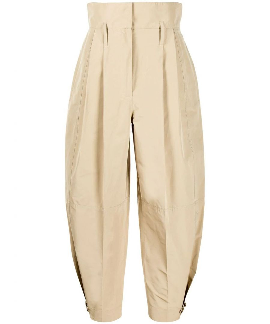 Image for GIVENCHY WOMEN'S BW50CN12PY292 BEIGE COTTON PANTS