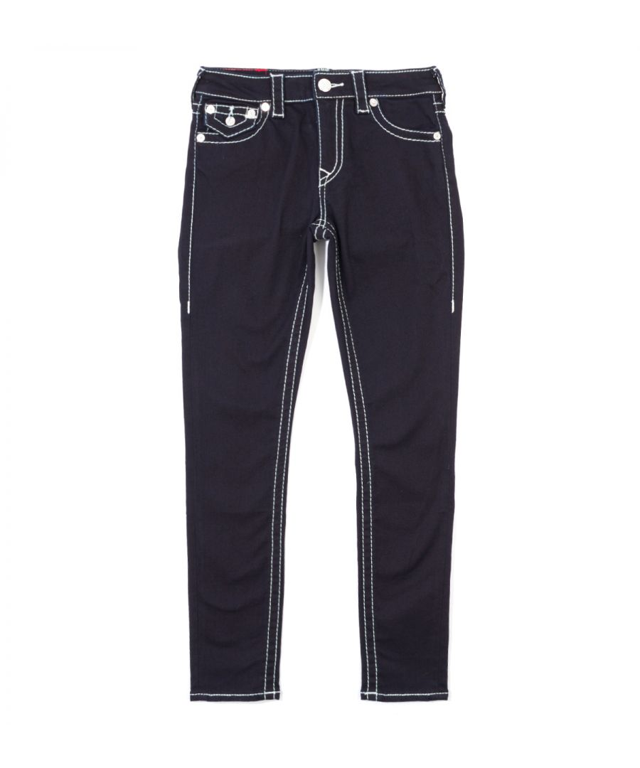 Image for True Religion Women's Jennie Curvy Big T Flap Skinny Jeans - Body Rinse Blue
