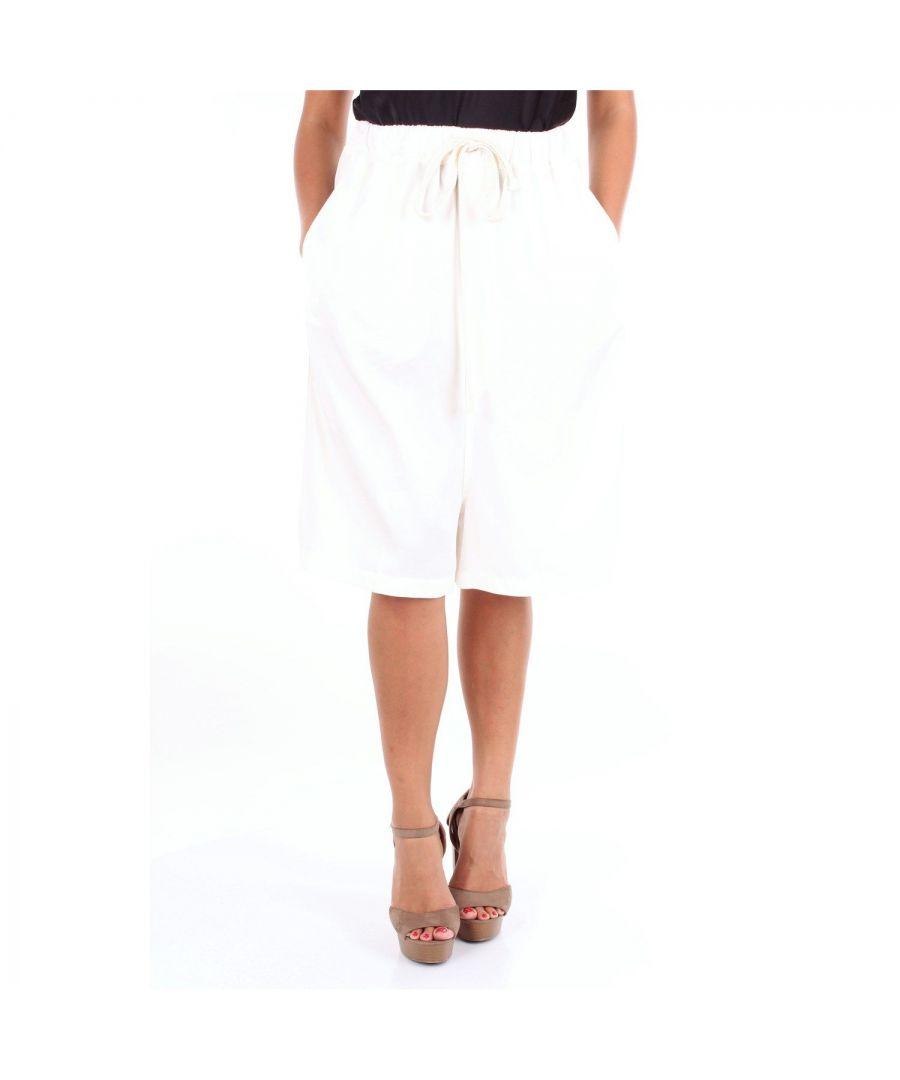 Image for MERCI WOMEN'S GN117BIANCO WHITE COTTON SHORTS