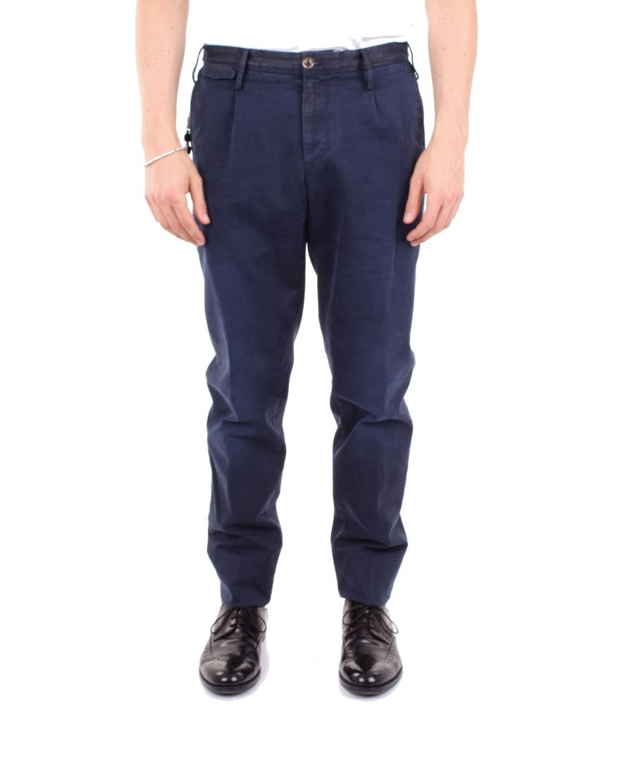 Image for PT01 MEN'S NU16TLBNZC0W0LBLUE BLUE COTTON PANTS