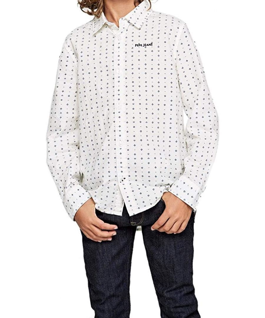Image for Pepe Jeans Boys Patterned Shirt in White