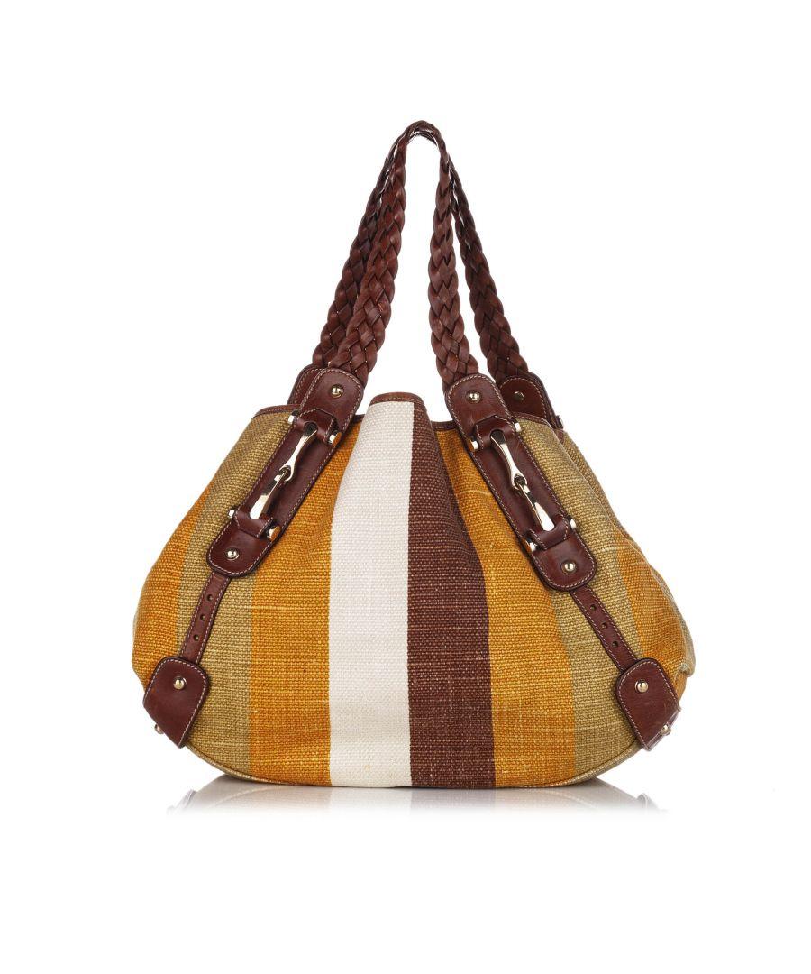 Image for Vintage Gucci Pelham Canvas Shoulder Bag Brown