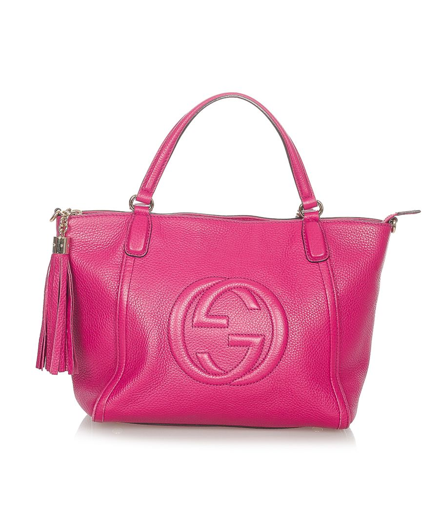 Image for Vintage Gucci Soho Cellarius Leather Satchel Pink
