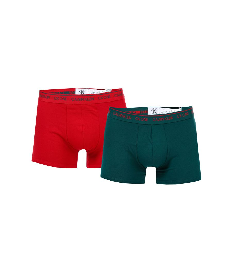 Image for Men's Calvin Klein CK ONE 2 Pack Trunks in Red
