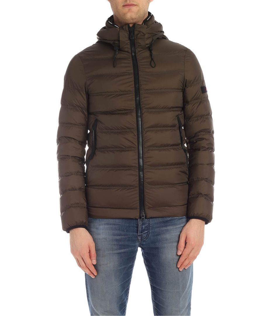 Image for PEUTEREY MEN'S PEU325701181503690 GREEN POLYESTER DOWN JACKET