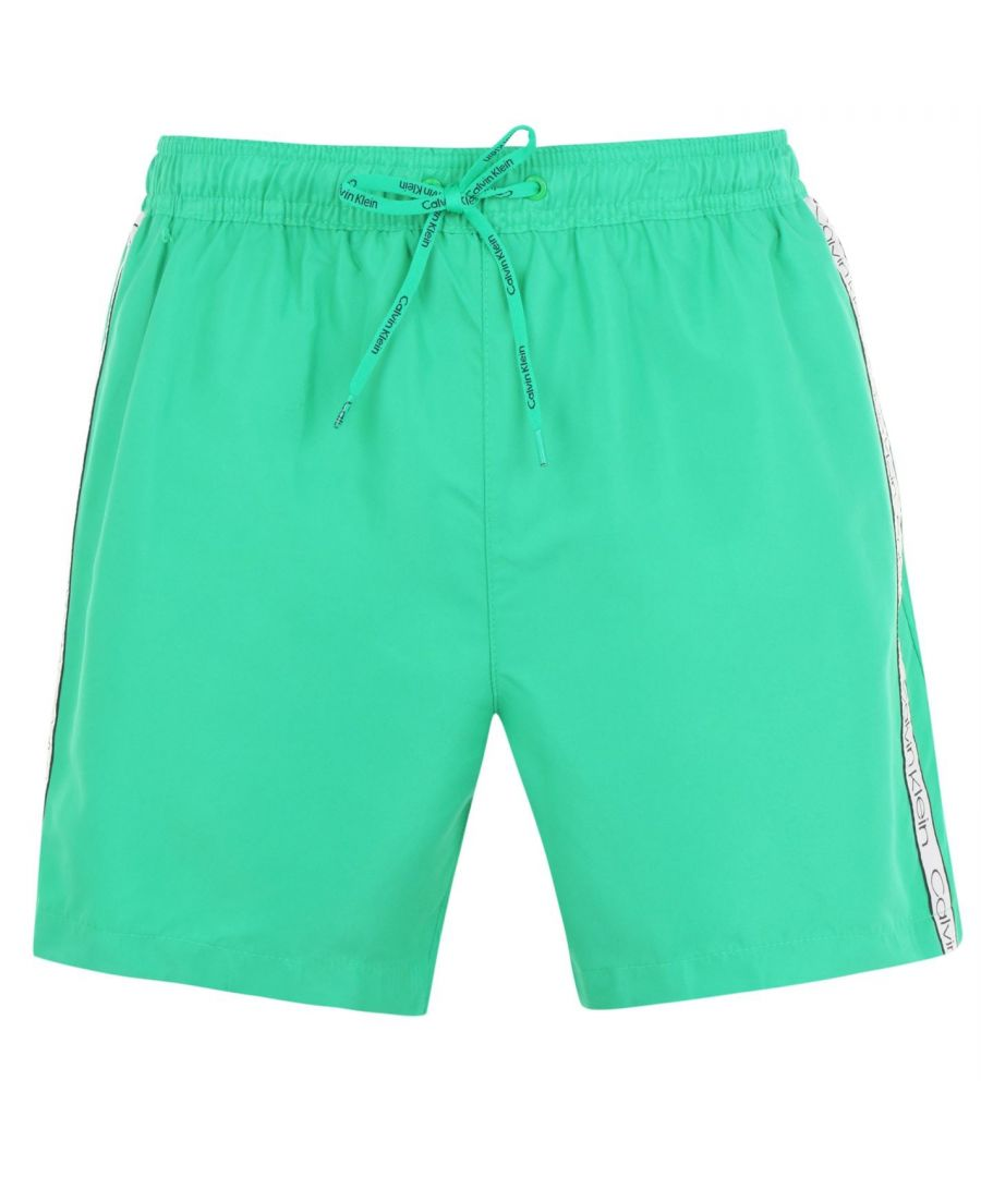 Image for Calvin Klein Mens Taped Swim Shorts Drawstring Lightweight