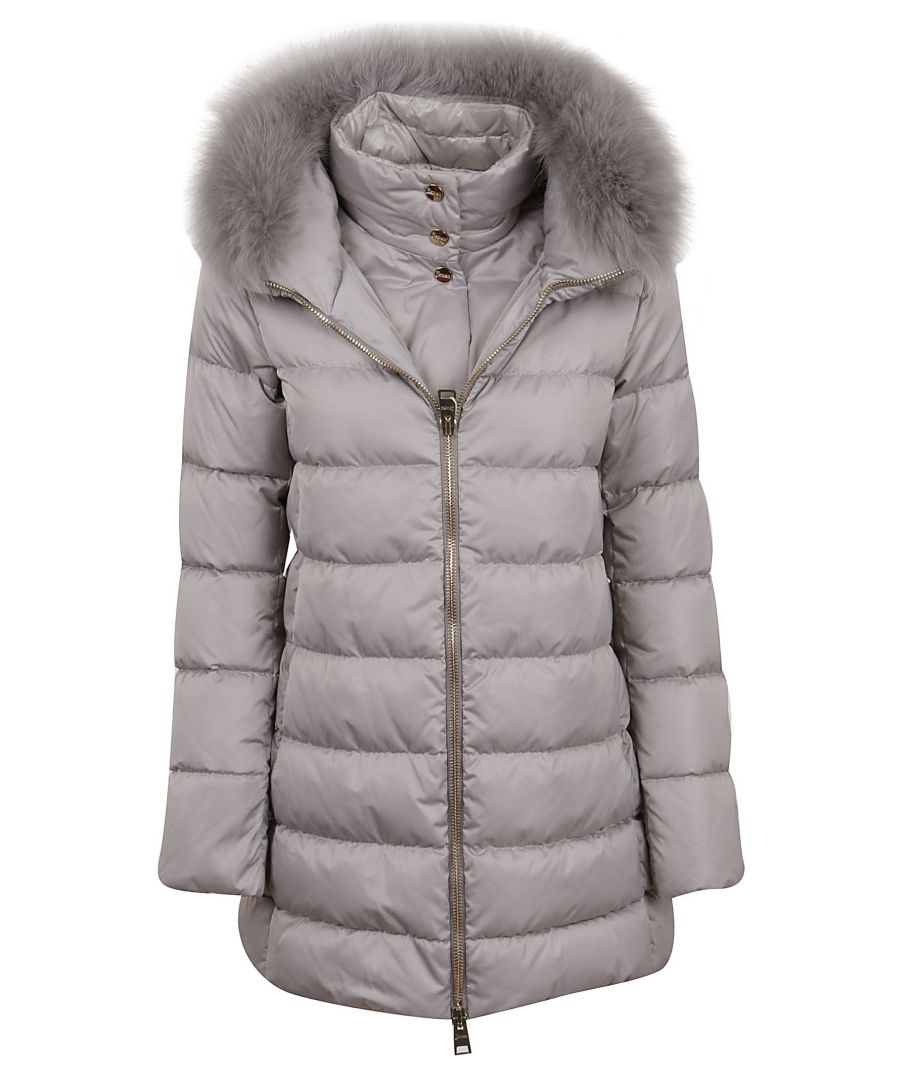 Image for HERNO WOMEN'S PI0670D121709408 GREY POLYAMIDE DOWN JACKET