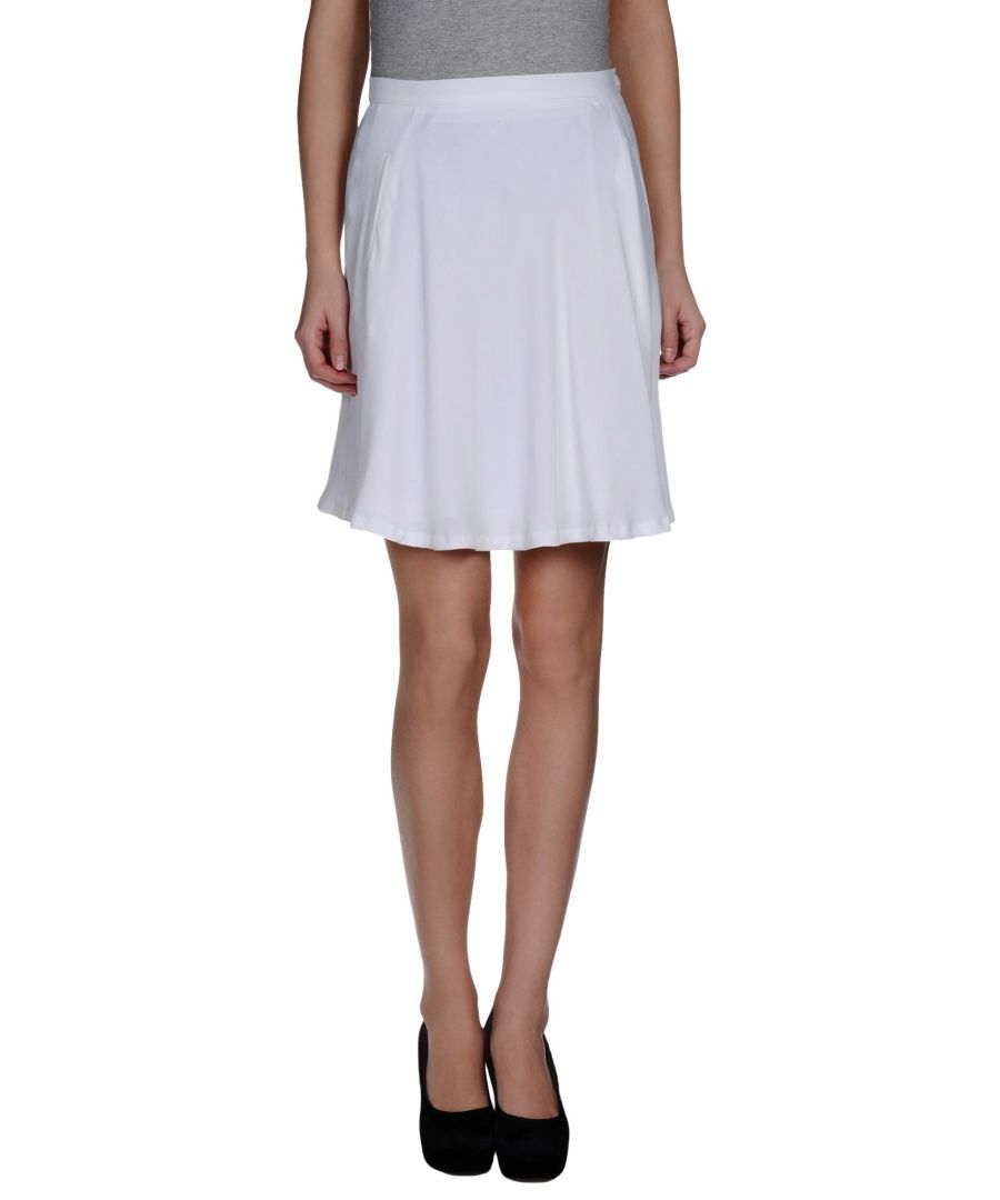 Image for Mauro Grifoni White Crepe Skirt