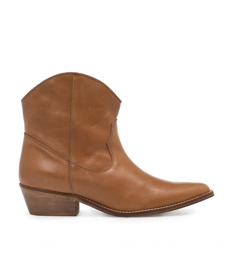 Image for Eva Lopez Leather Cowboy Boots Heel
