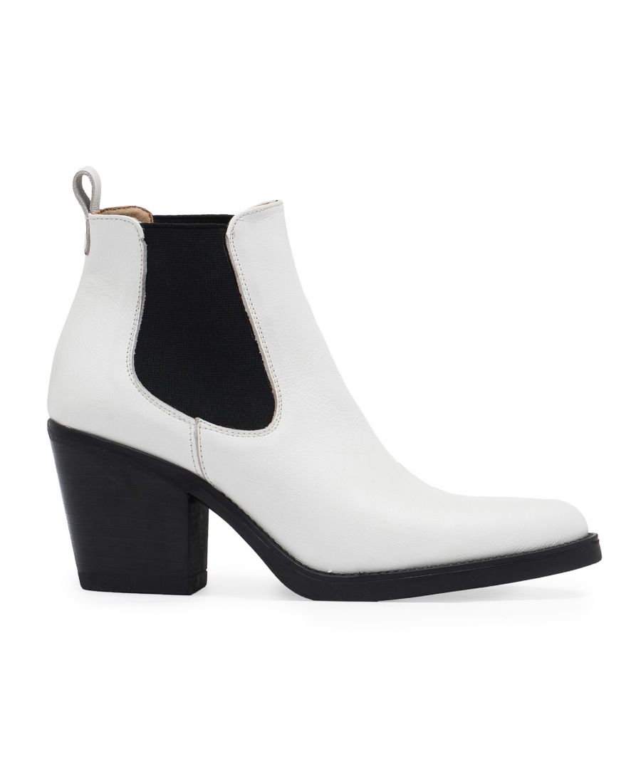 Image for Eva Lopez Nappa Leather Chelsea Boots Women High Heel