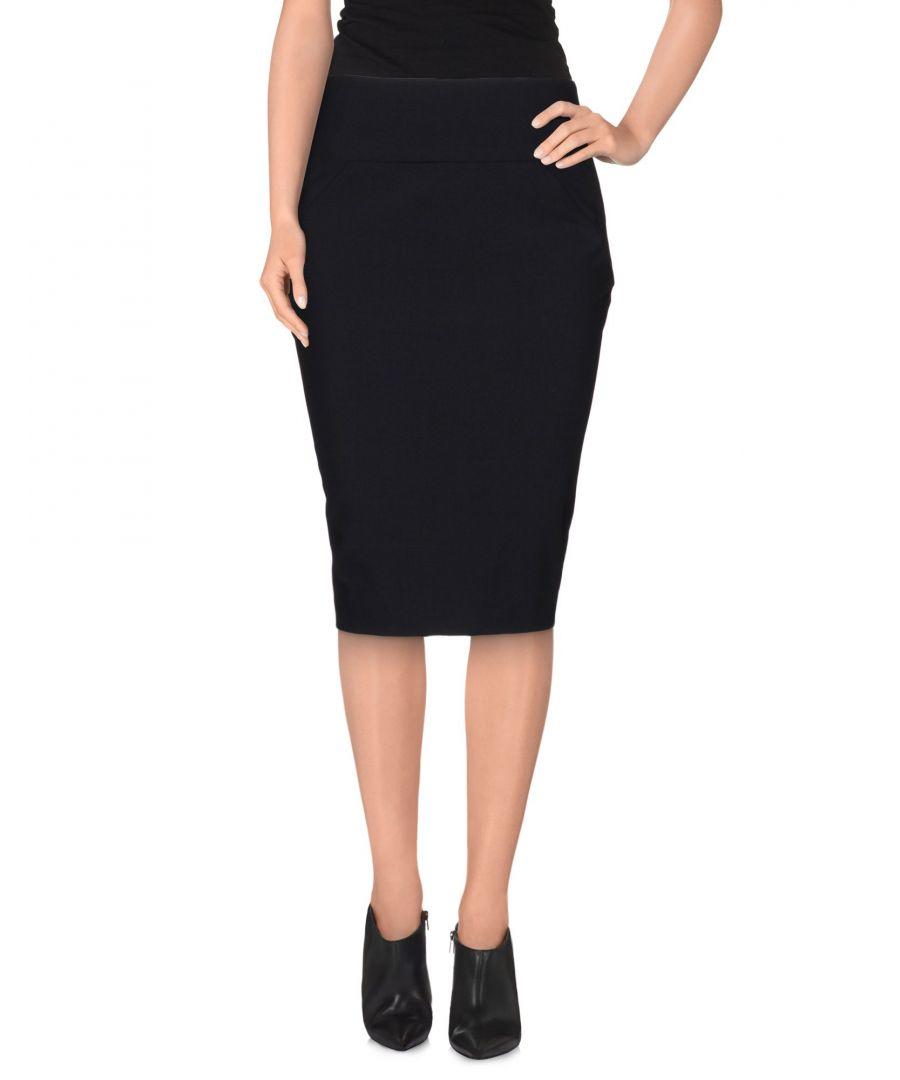 Image for Emporio Armani Steel Grey Virgin Wool Skirt