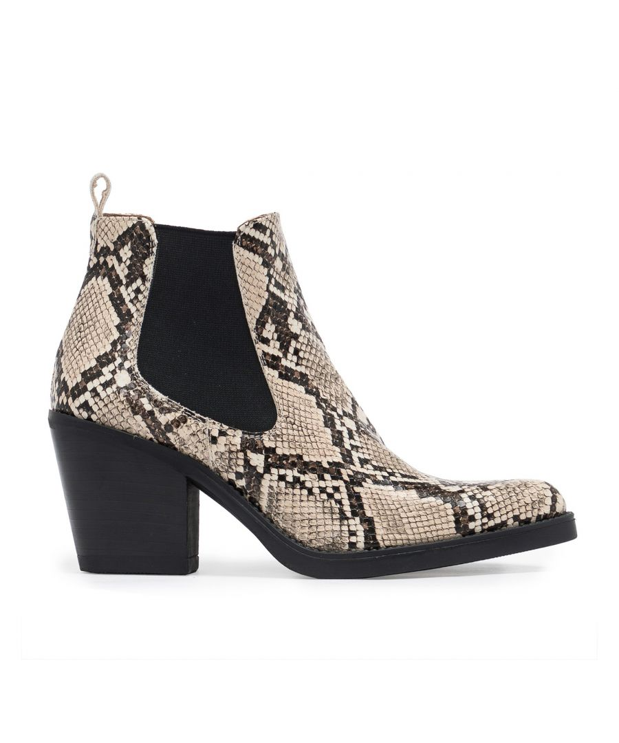 Image for Eva Lopez Chelsea Split Leather Boots Snake style Women