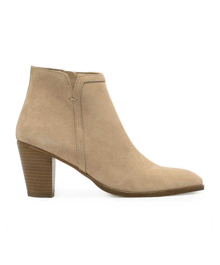 Image for Eva Lopez Split Leather Boots Heel Women