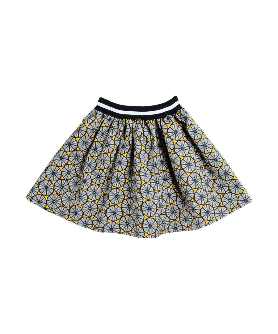 Image for Stella Jean Girls' Grey Cotton Skirt