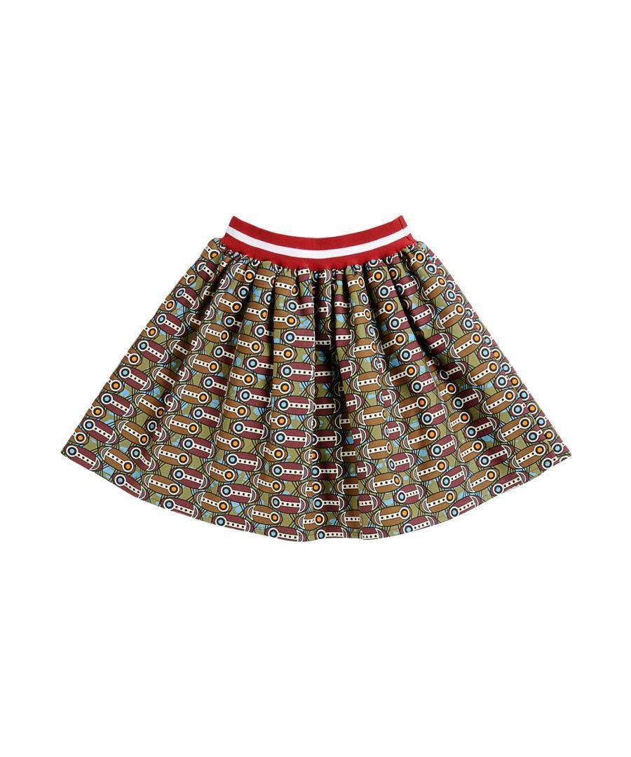Image for Stella Jean Girls' Military Green Cotton Skirt