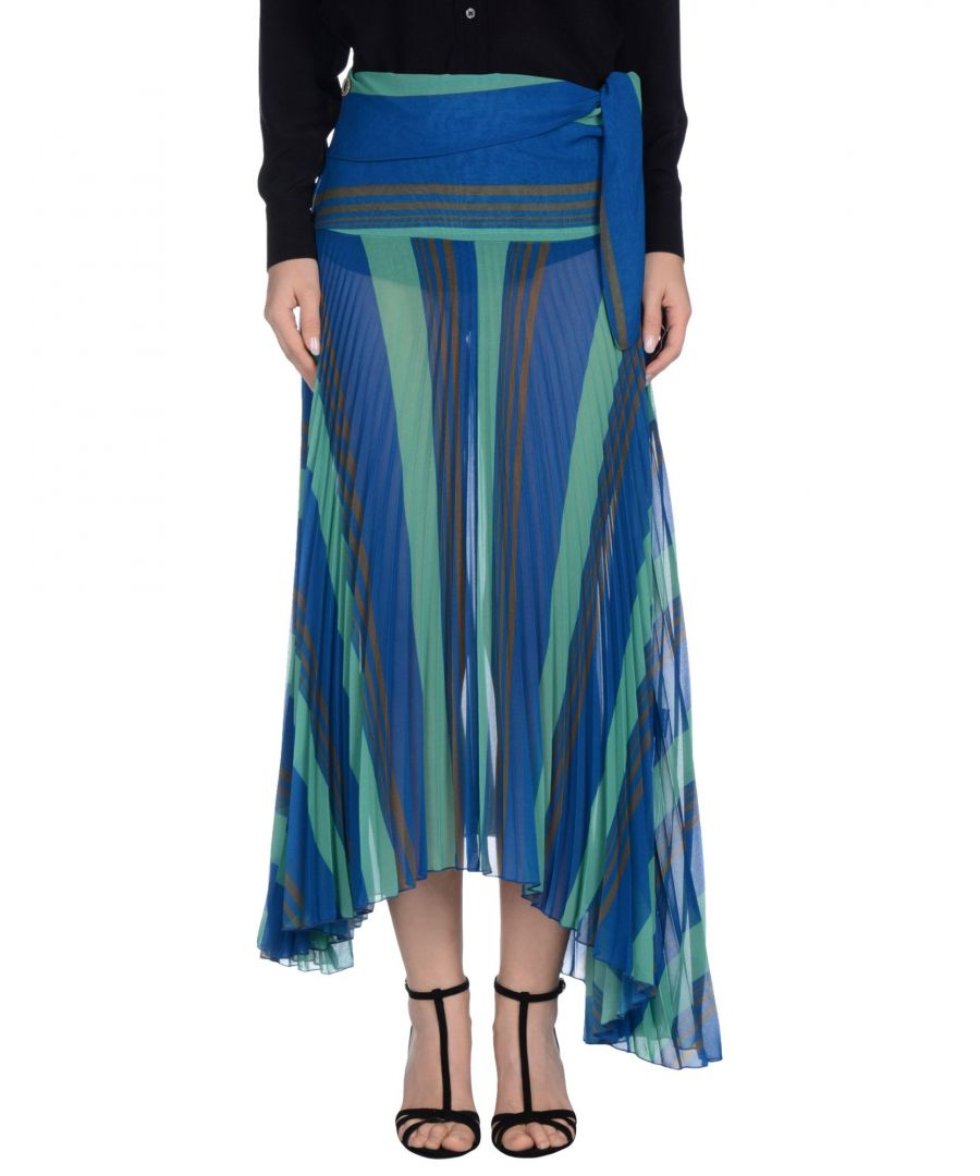 Image for Manila Grace Blue Stripe Pleated Skirt