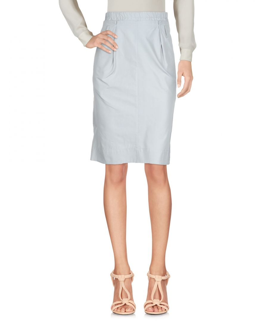 Image for Jil Sander Light Grey Silk Knee Length Skirt
