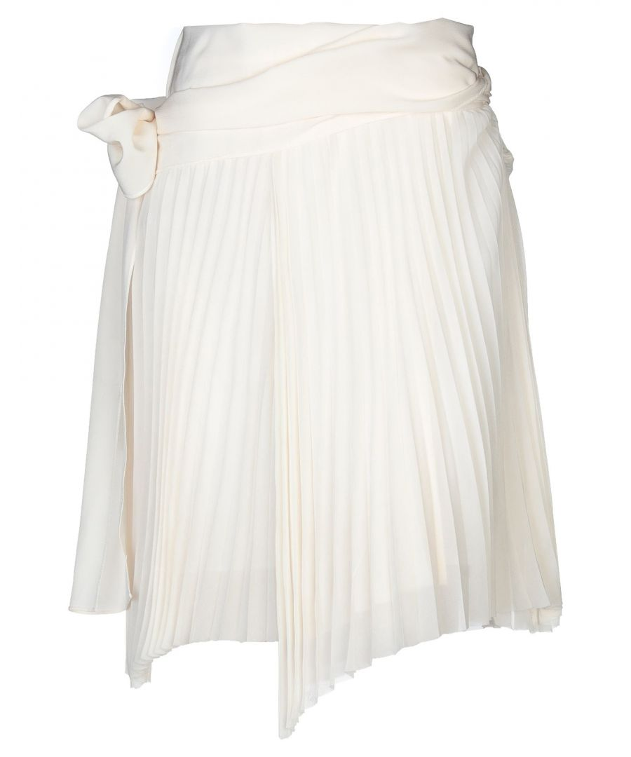 Image for Patrizia Pepe Ivory Silk Pleated Skirt