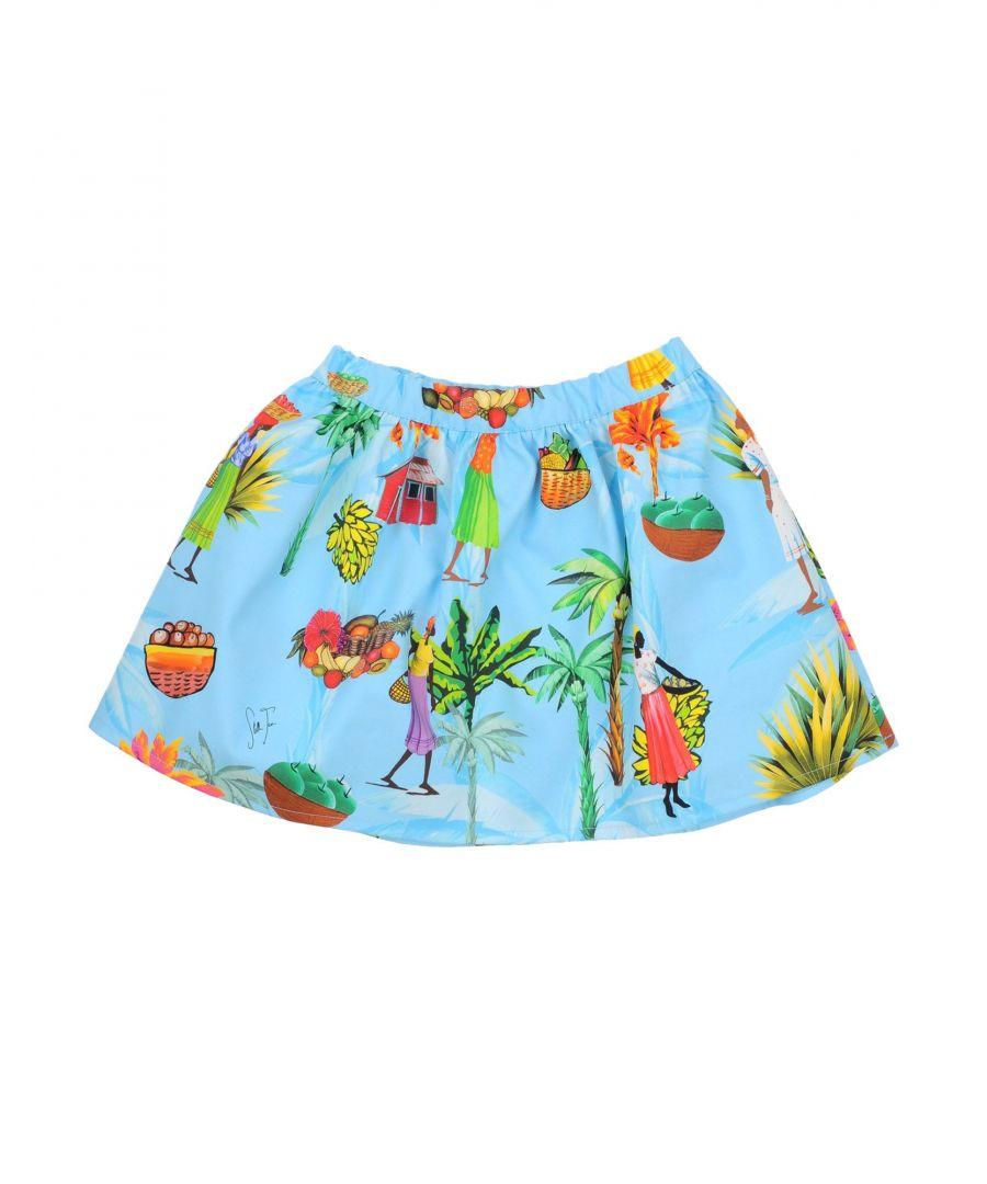 Image for Stella Jean Girls' Sky Blue Cotton Skirt