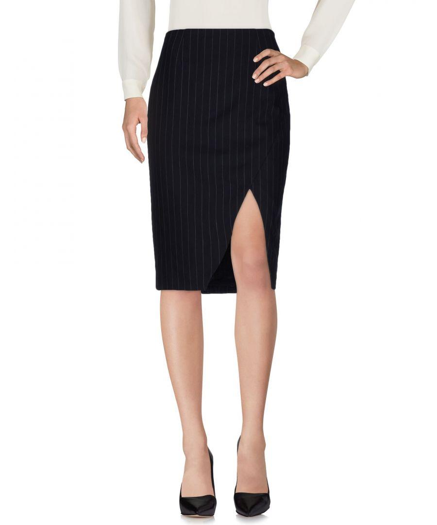 Image for Polo Ralph Lauren Dark Blue Wool Pinstripe Skirt