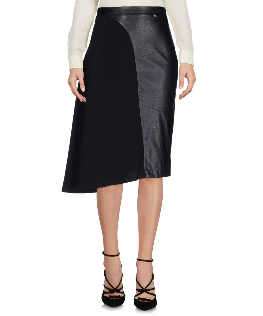 Image for Annarita N Black Faux Leather Skirt
