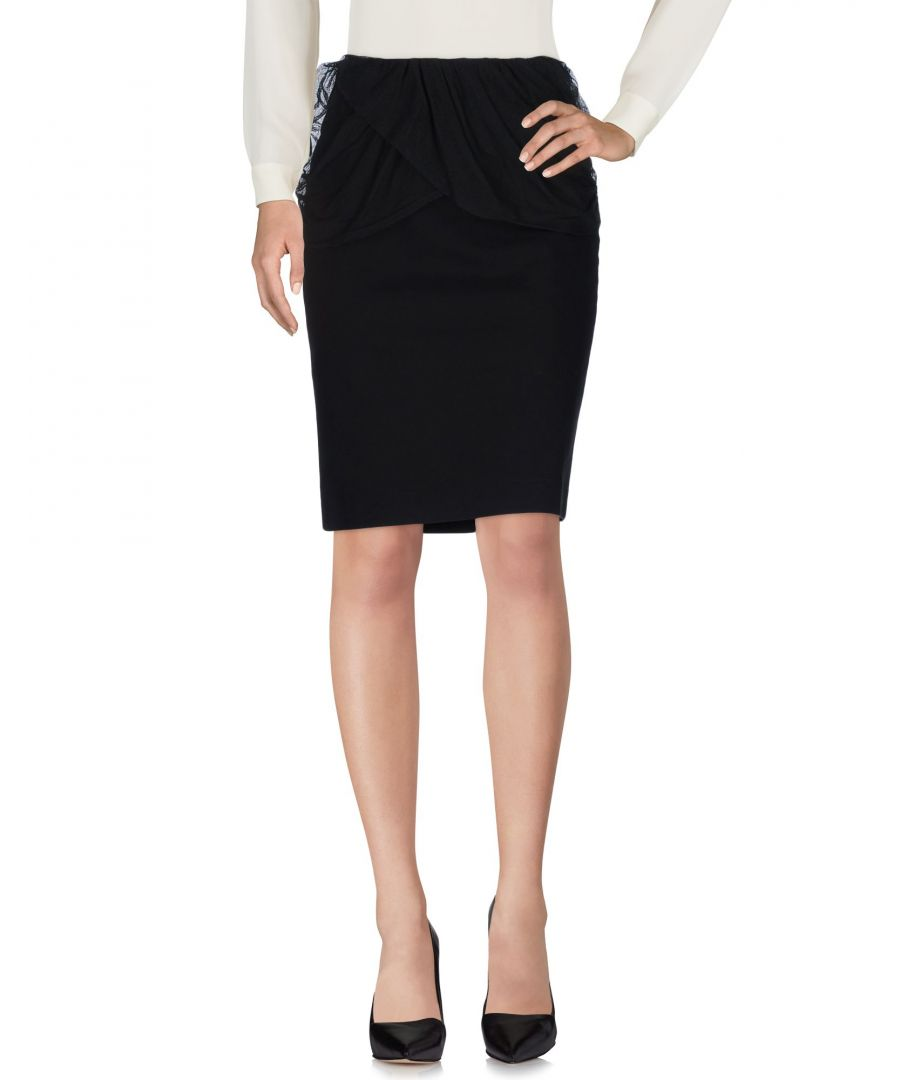 Image for Just Cavalli Black Cotton Knee Length Skirt