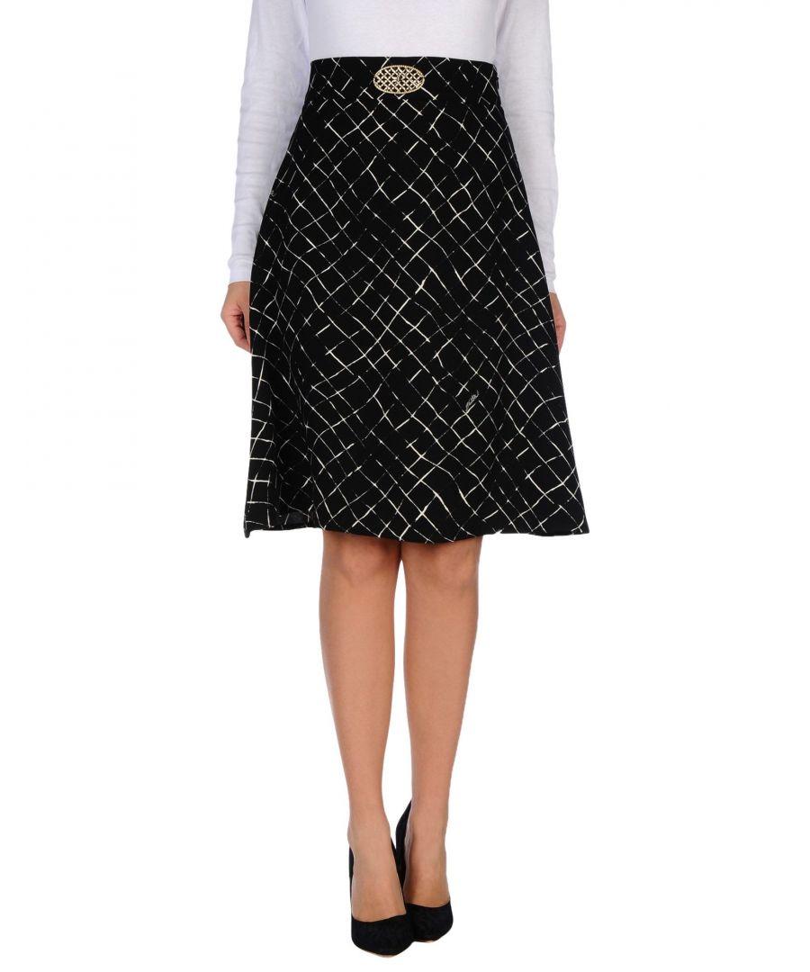 Image for Elisabetta Franchi Black A-Line Knee Length Skirt