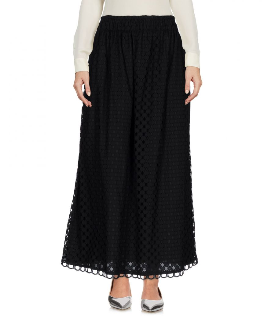 Image for Carven Black Cotton Full Length Skirt