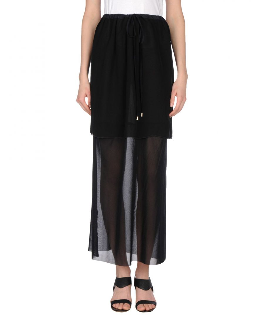 Image for Pianurastudio Black Full Length Skirt