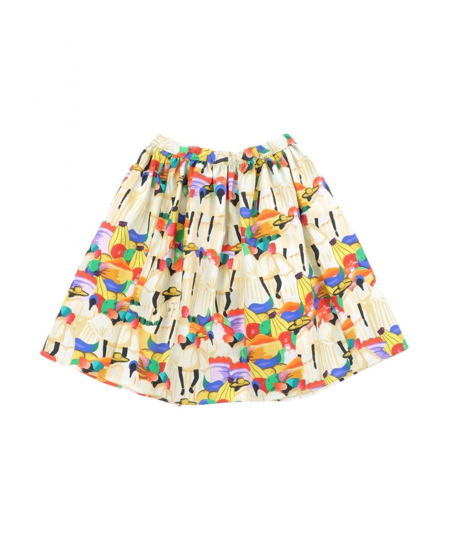 Image for Stella Jean Girls' Yellow Cotton Skirt