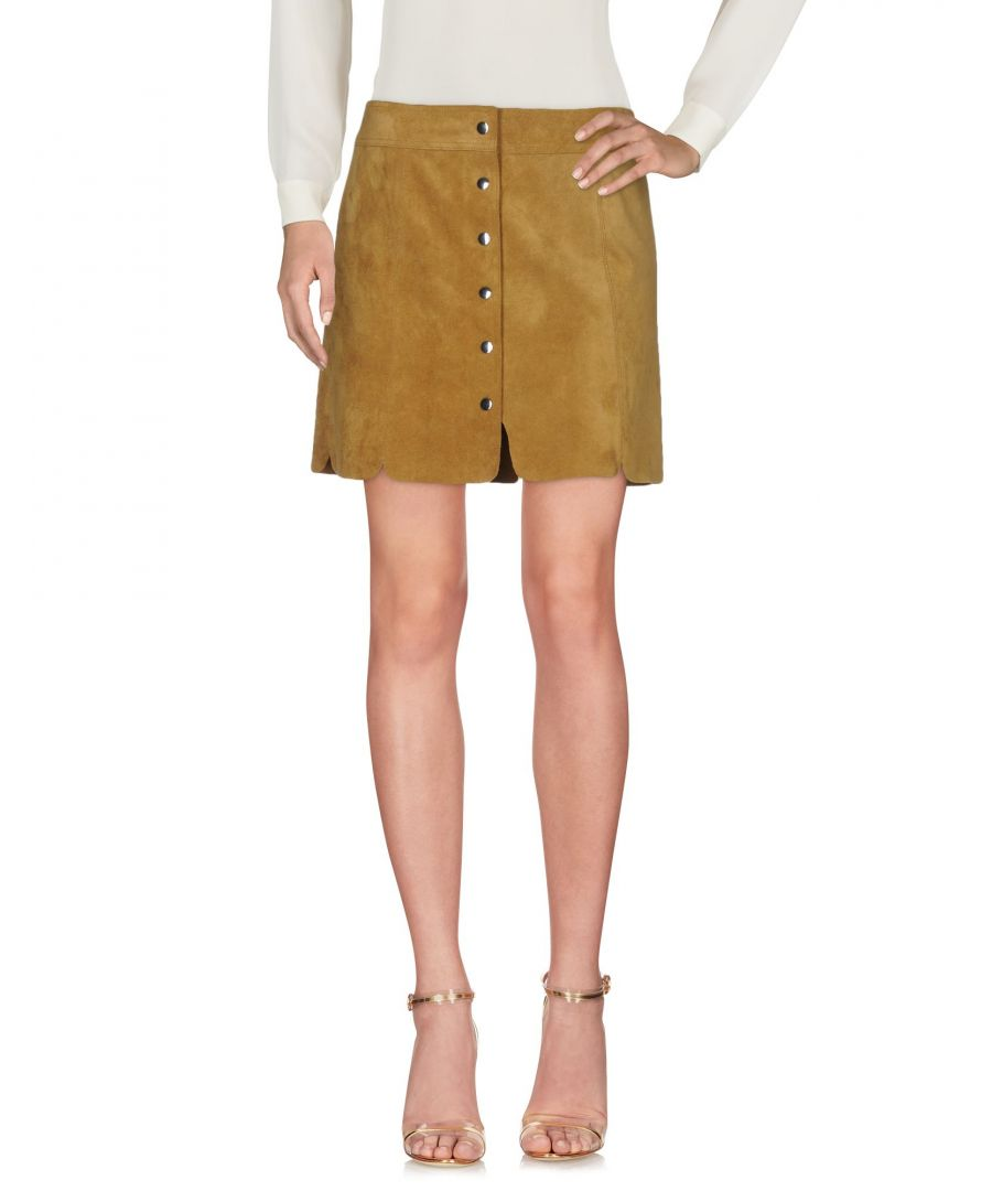 Image for Isabel Marant Etoile Khaki Calf Leather Skirt
