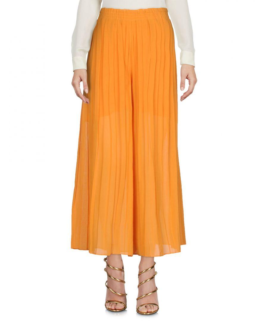 Image for Philosophy Di Alberta Ferretti Orange Cotton Pleated Skirt