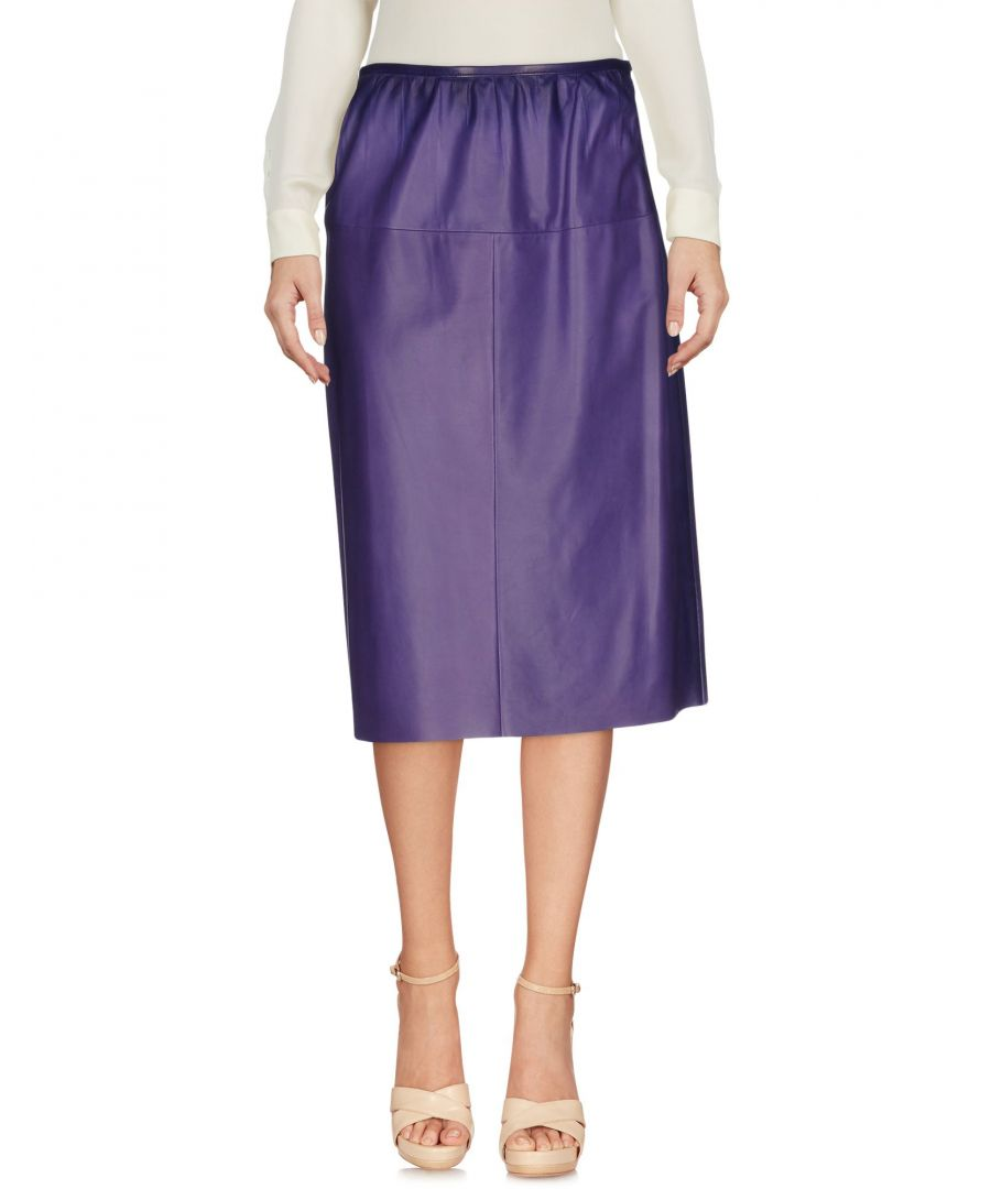 Image for Prada Purple Lambskin Knee Length Skirt