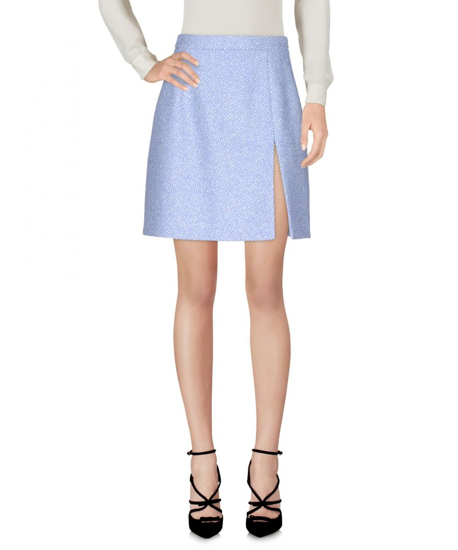 Image for Michael Kors Collection Azure Virgin Wool Knee Length Skirt