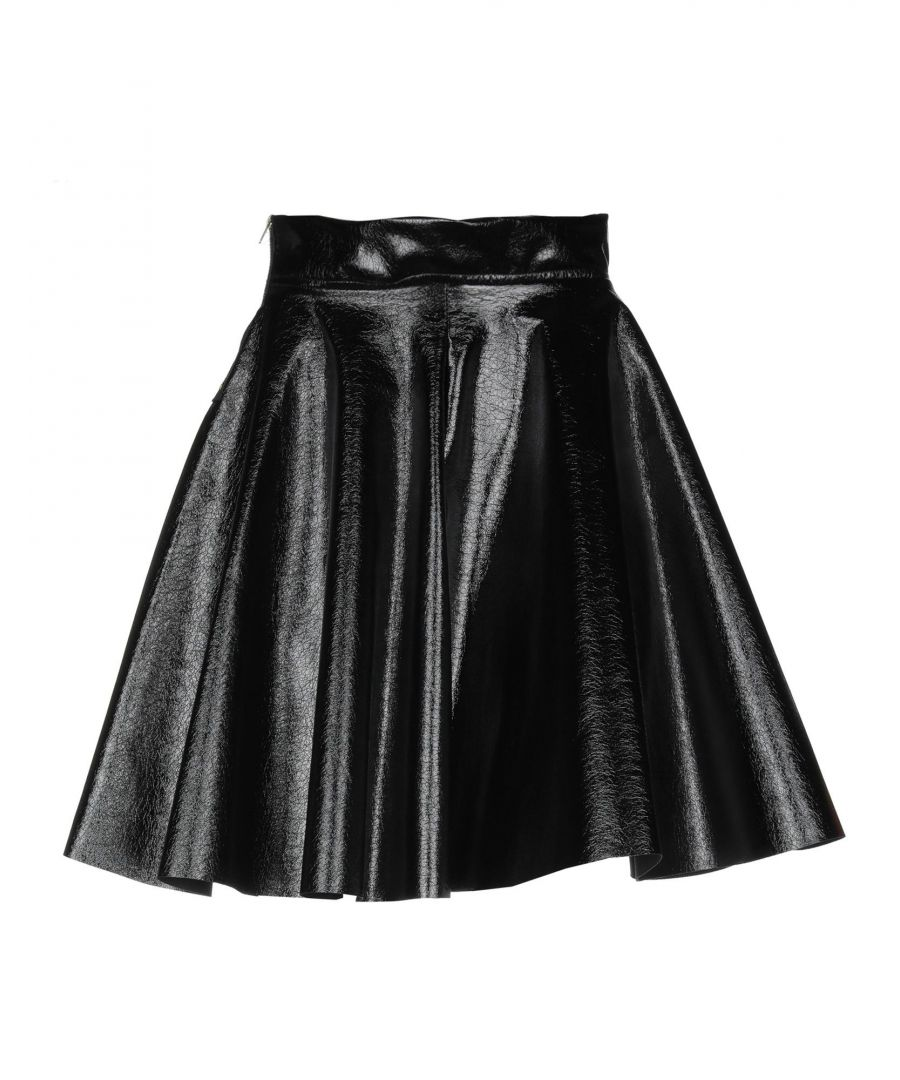 Image for Victoria & Stella Black Faux Leather Skirt