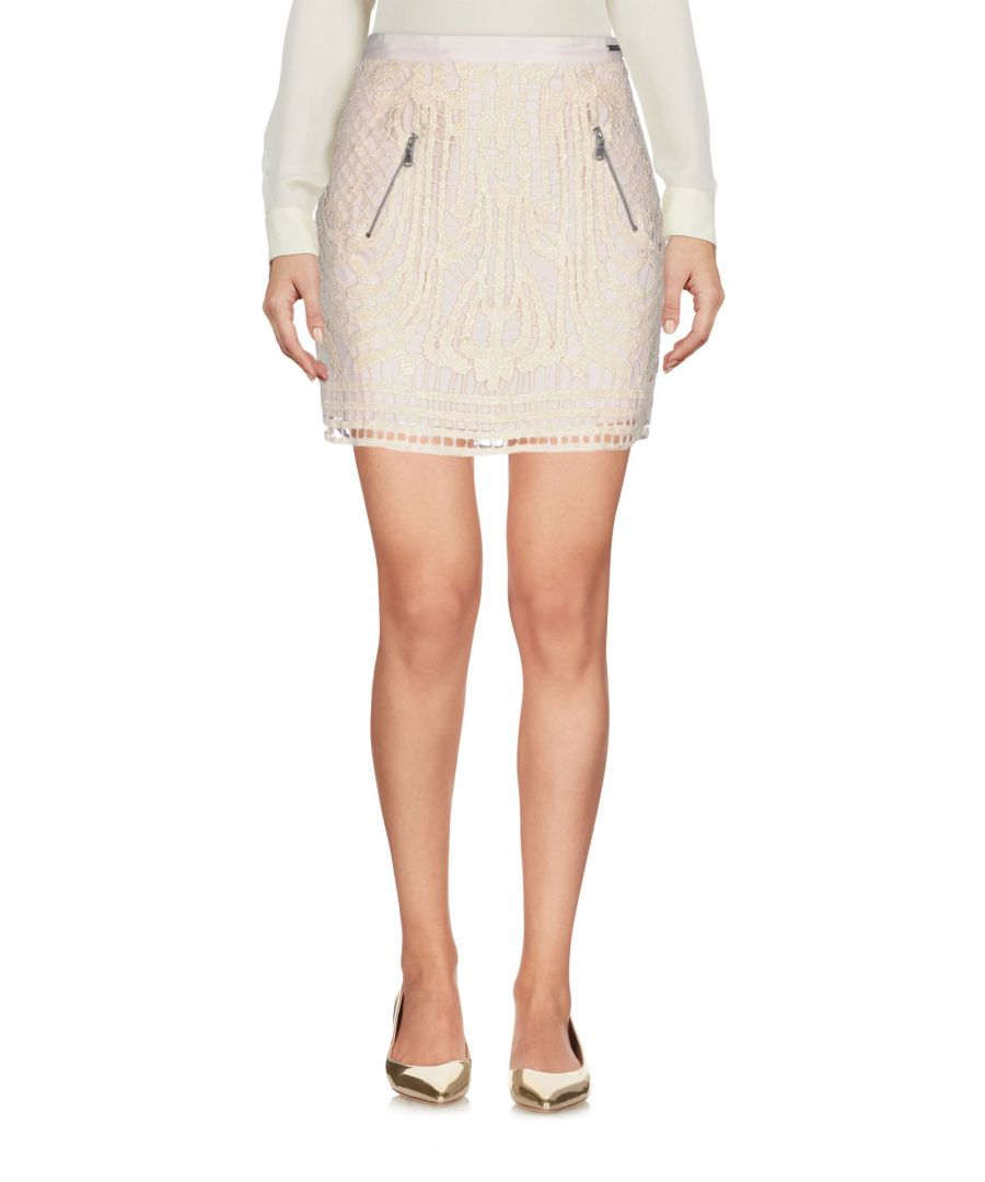 Image for Guess Beige Lace Skirt